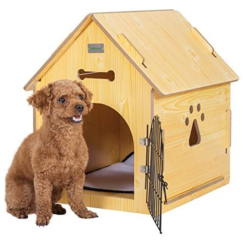yellow dog house ollieroo dog cat house crate wooden kennel indoor condo