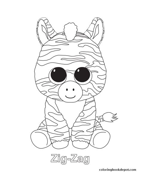 coloring boo zig zag beanie boo coloring pages