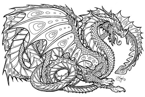 Free Printable Coloring Pages For Adults Advanced Dragons | free printable coloring pages for adults advanced dragons