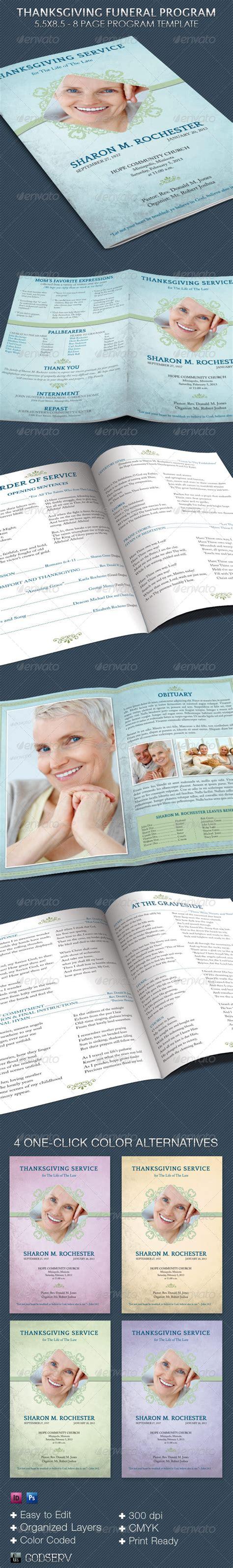 Indesign Program Lookup Beforebuying Funeral Program Template Indesign