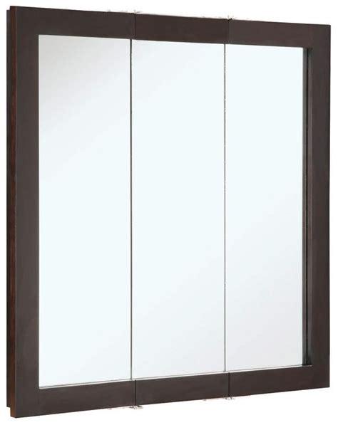 triple door mirrored medicine cabinet design house 541342 30 quot framed triple door