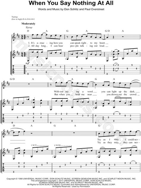 picking pattern when you say nothing at all paul overstreet quot when you say nothing at all quot guitar tab