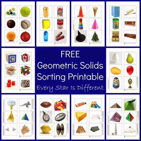 Printable Shapes For Sorting | 3 dimensional shapes activities printables dimensional