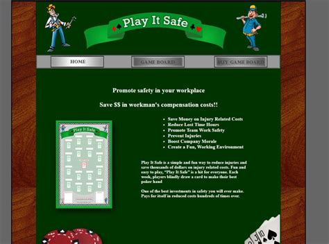 play  safe workplace safety game save  workmans