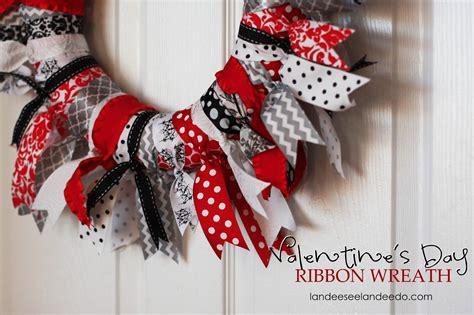 valentines day wreaths s day ribbon wreath landeelu