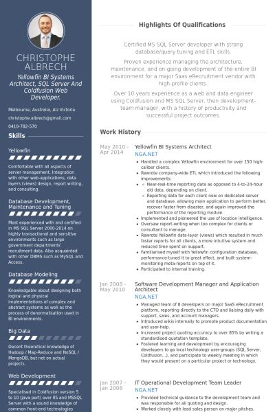 Architecture Resume Format Real Cv Exles Resume Sles Visual Cv Free Sles Database Architecture Resume Template