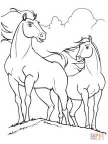 coloring pages of spirit the spirit and horses coloring page free printable