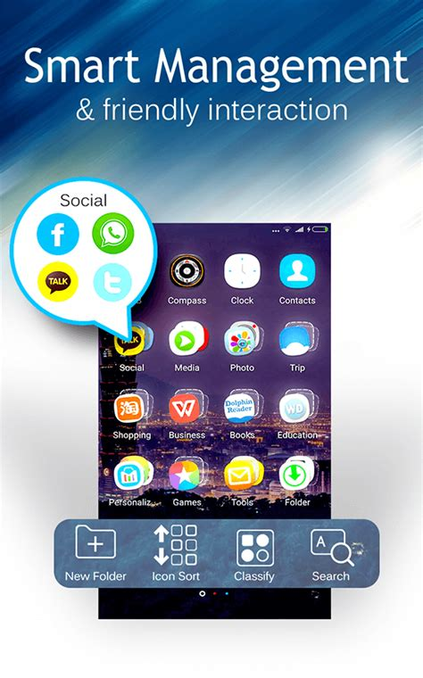 c launcher themes wallpapers diy smart clean