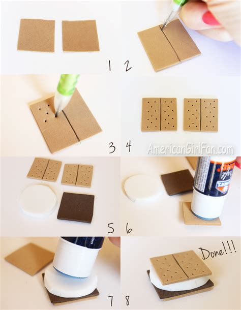 how to make craft for doll food craft how to make s mores americangirlfan