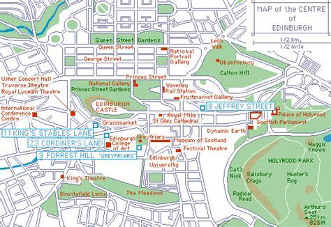 printable street map of edinburgh city centre edinburgh city centre self catering accommodation 8