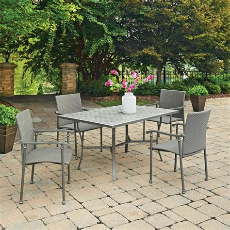 Umbria Set home styles umbria 5 concrete outdoor dining set