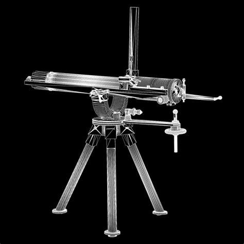 Kaos 3d Gafting Gun gatling gun 3d model
