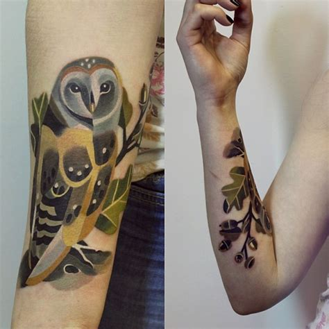 watercolor tattoo sasha unisex barnowl by unisex design of tattoosdesign