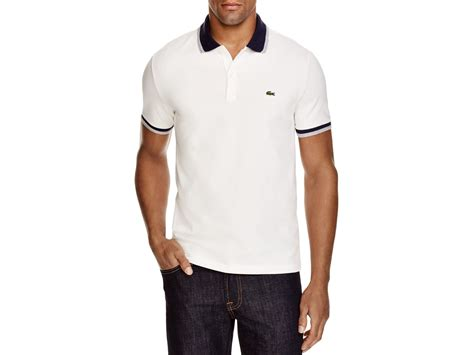 Kaos Kerah Polo Shirt Lacoste Normal Size Hig Kualitas 1 lyst lacoste stretch cotton slim fit polo in white for