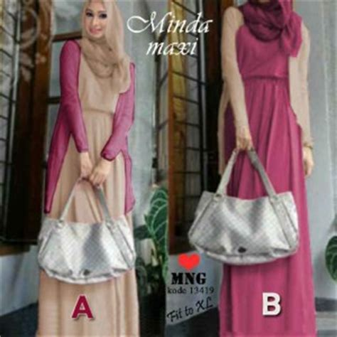 Dress Baju Muslim Gamis Maxi Dress Alaina gamis modern minda maxi model busana muslim dress holidays oo