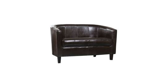 Faux Leather Tub Chairs Homegenies Faux Leather Tub Sofa