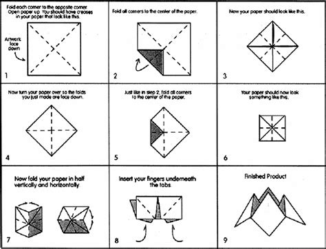 How Do You Fold A Paper Fortune Teller - cootie catcher how to let there be light