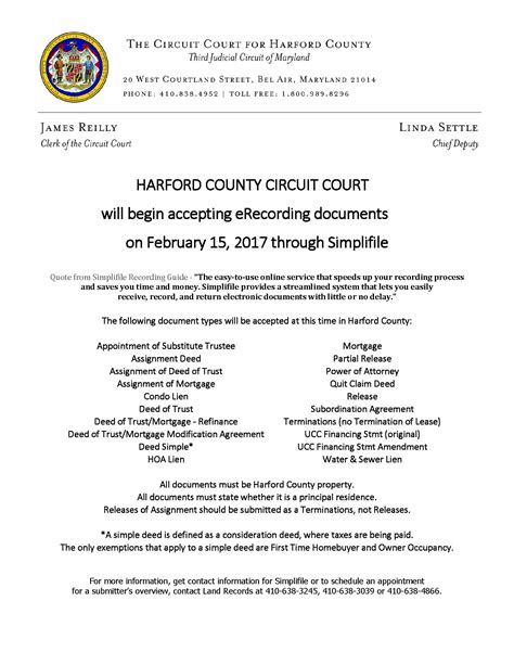 Harford County District Court Search E Recording At Harford County Circuit Court Harford County Bar Association