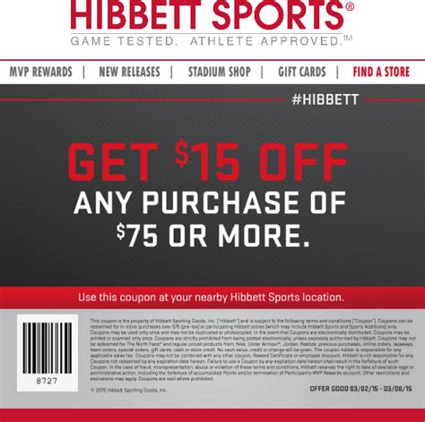 Sports Giveaways Coupon Code - hibbett sports coupons 15 off 75 at hibbett sports