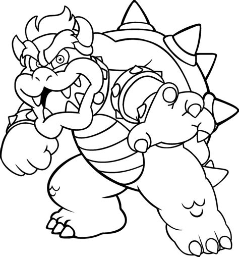 bowser coloring pages mario bowser coloring pages