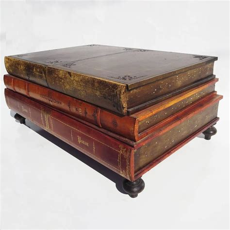 1960s italian leather books coffee table at 1stdibs