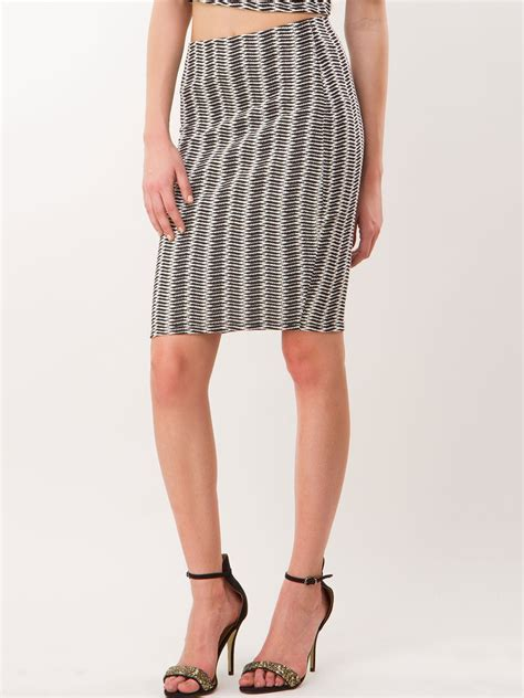 buy warehouse mono textured pencil skirt for