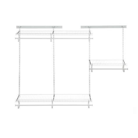 closetmaid shelftrack 4 ft 6 ft w closet organizer kit