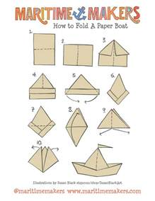 paper folding templates for print design maritime makers how to fold a paper boat printable