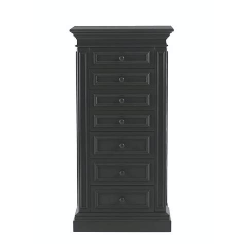 Home Decorators Jewelry Armoire by Home Decorators Collection 7 Drawer Jewelry Armoire In Black 8190300210 The Home Depot
