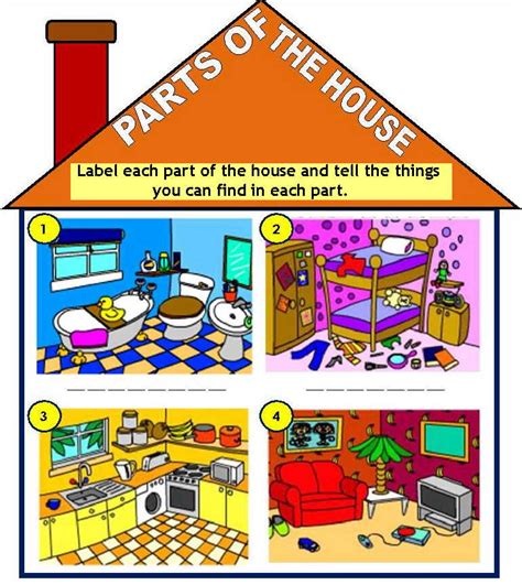 parts of a house house parts kids a teacher jocelyn
