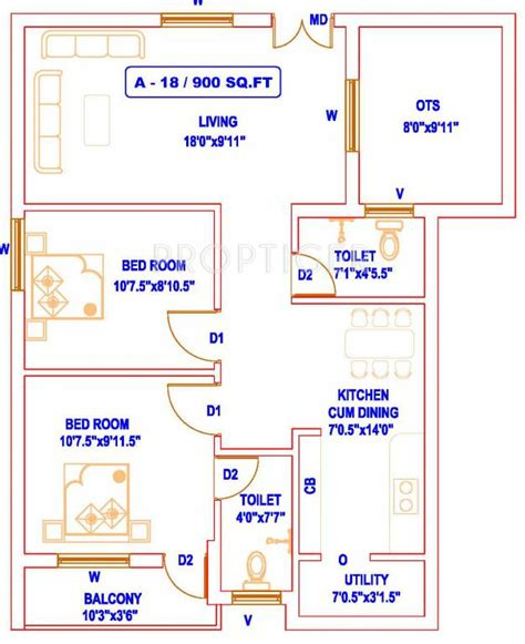 900 sq ft floor plans 900 sq ft 2 bhk 2t apartment for sale in aishwarya home