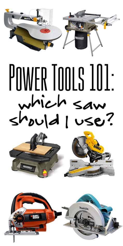 woodworking power tools list power tools 101 which saw should i use