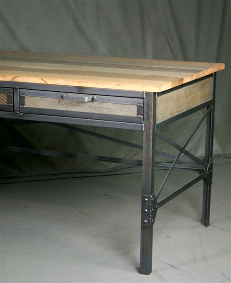 industrial l shaped desk combine 9 industrial furniture desk with return and