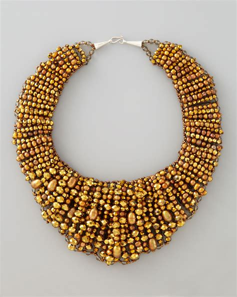 beaded collar nakamol beaded collar necklace get kristen bell s