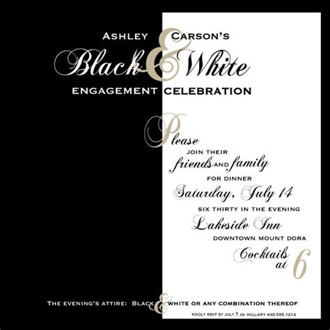 Black And White Birthday Invitation Card Template by Black And White Invitations Invitations Ideas