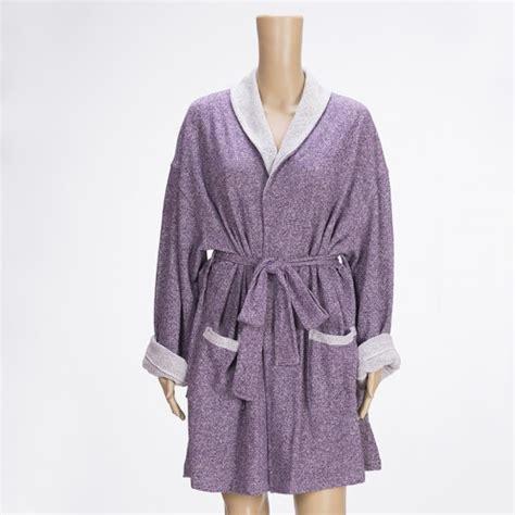 Pashmina Aljazira Az 511 eggplant sweatshirt robe zsa zsa slipper