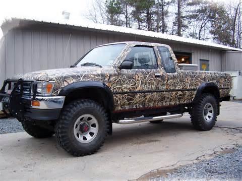 toyota hunting truck toyota pickup camo wrap