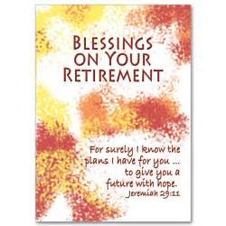 blessing cards blessings on your retirement feminine retirement card