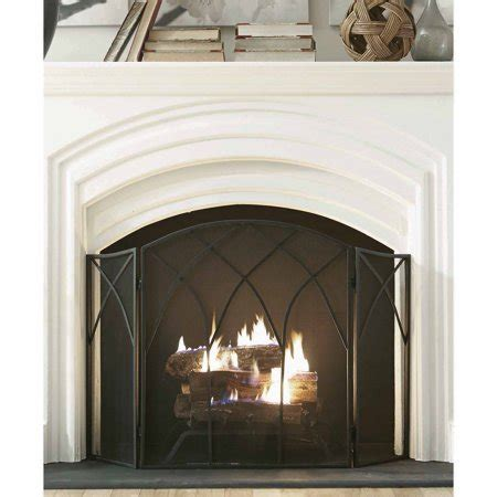 Pleasant Hearth Gothic Fireplace Screen, Black   Walmart.com
