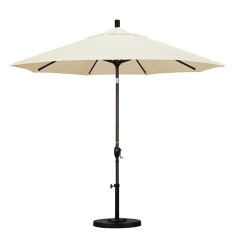 Canvas Patio Umbrella California Umbrella 9 Ft Aluminum Push Tilt Patio Umbrella In Canvas Pacifica Gspt908117 Sa53