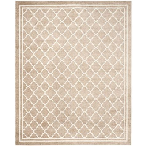 Outdoor Rug 9 X 12 Safavieh Amherst Wheat Beige 9 Ft X 12 Ft Indoor Outdoor Area Rug Amt422s 9 The Home Depot