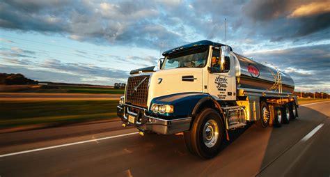 lemke bros milk truck  highway volvo vhd exclusive commercial photographer eau claire