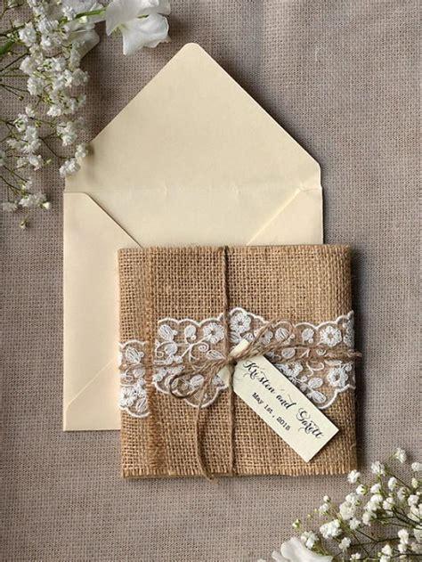 Burlap Wedding Invitations