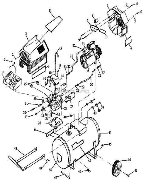 craftsman twin  oil  air compressor parts
