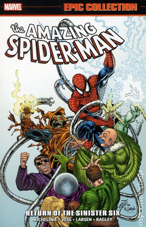 libro amazing spider man epic collection amazing spider man return of the sinister six tpb 2016 marvel epic collection comic books
