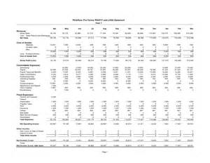 pdaware pro forma profit and loss statement year 1