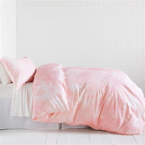 pink marble duvet cover and sham set dormify