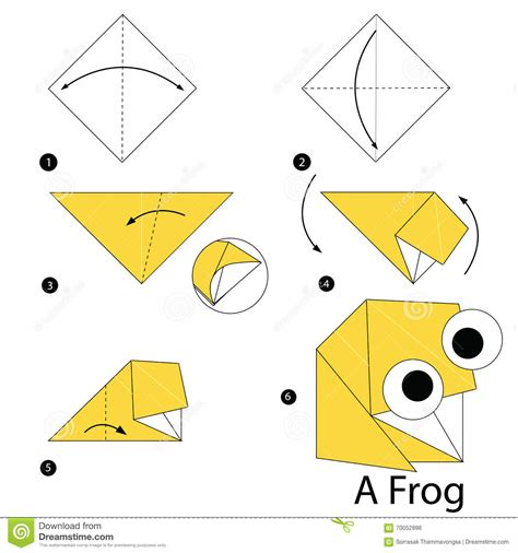 Frog Origami Step By Step - origami origami how to make an origami origami