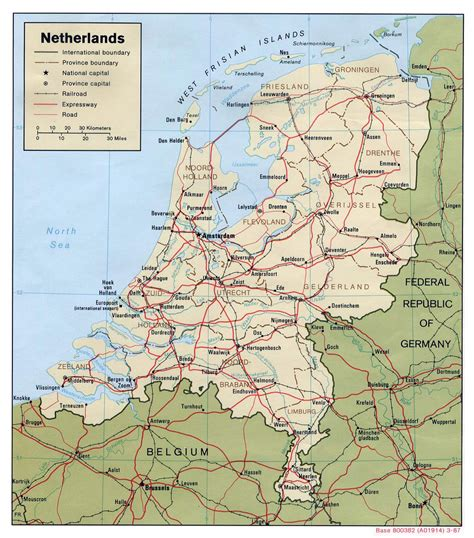 netherlands map major cities large political and administrative map of netherlands with