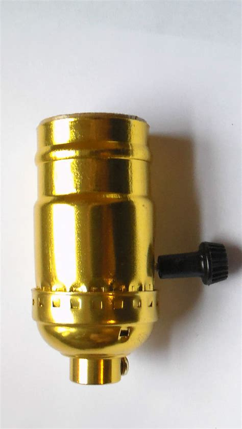 new 3 terminal brass turn knob l socket for standard
